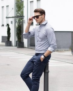chinos check shirt