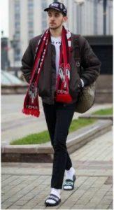 football scarf moda
