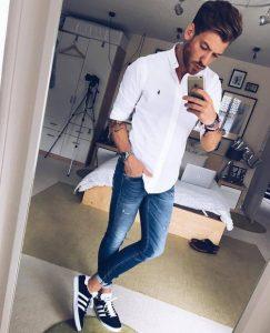 leuko poukamiso ralph lauren, jeans, sneakers