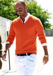 orange fashion men
