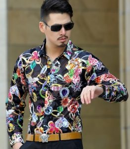 silk shirt men