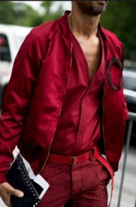 total red look men