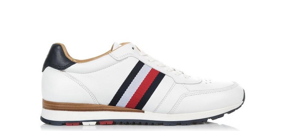 86945fab2e Οικονομικά ανδρικά παπούτσια! Tommy Hilfiger. athlitika hilfiger leuko  athlitika hilfiger