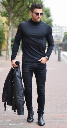 total black antriko look