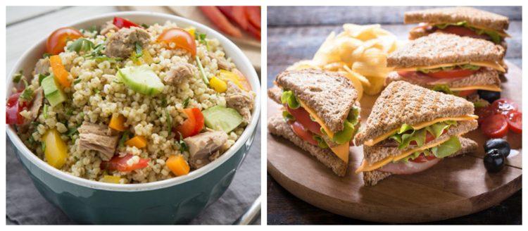 club sandwich kai pligouri salata