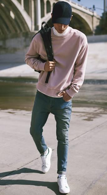 casual look aspres kaltses