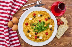 omeleta auga kafes proino
