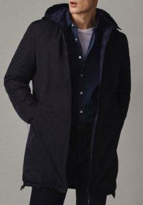 ανδρικό μπλε παλτό
