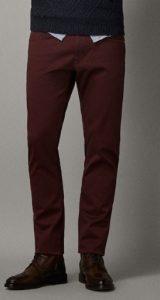 ανδρικό μπορντό παντελόνι