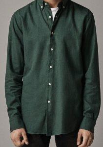 πράσινο ανδρικό πουκάμισο