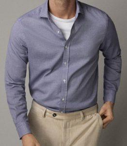 μπλε ανδρικό πουκάμισο
