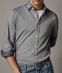 ανδρικό πλεκτό πουκάμισο