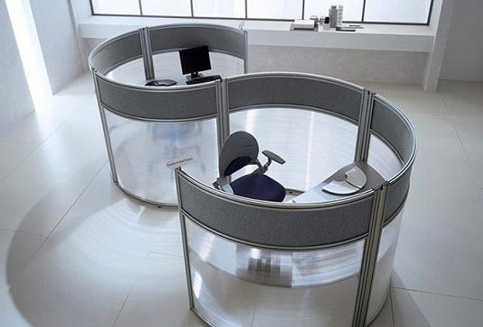 glass desks for workplaces