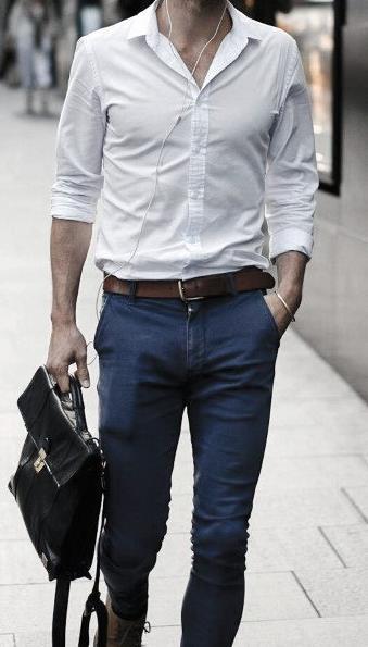 άσπρο αντρικό πουκάμισο
