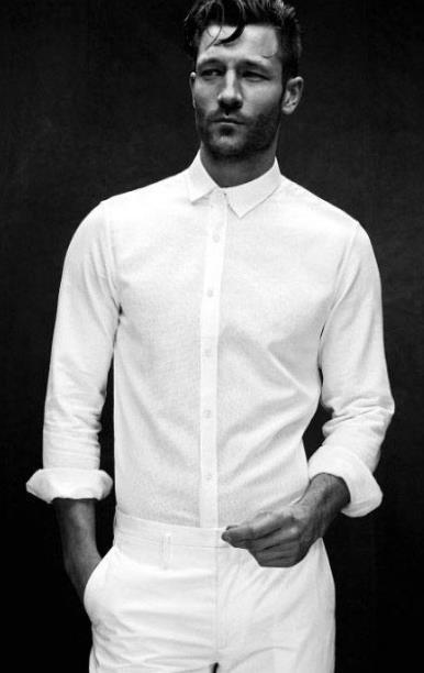λευκό αντρικό πουκάμισο