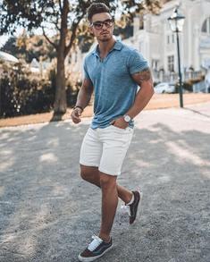 casual καλοκαιρινό ντύσιμο βερμούδα-Tshirt polo
