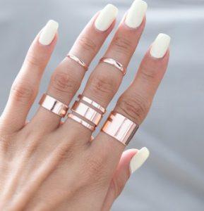 rosegold δαχτυλίδια