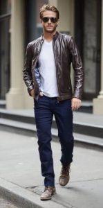 Outfit με δερμάτινο jacket