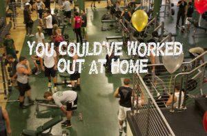 υπερβολικός κόσμος στο γυμναστήριο