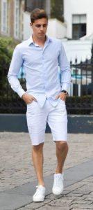 λευκο κοντο παντελονι με πουκαμισο