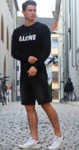 μαυρο ντυσιμο με βερμουδα
