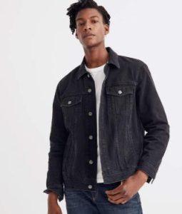 μαύρο jean μπουφάν για αντρικό Outfit