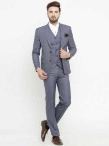 μονόχρωμο κοστούμι