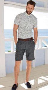 ανδρικο ντυσιμο με βερμουδα και πουκαμισο