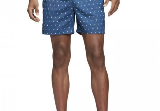 adidas print-πουά μπλε κοντό ανδρικό μαγιό