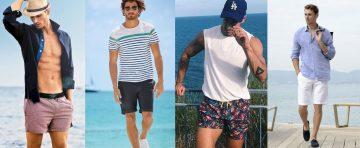 προτάσεις με ανδρικά outfits για την παραλία