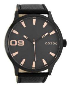 μαύρο αντρικό ρολόι χειρός oozoo