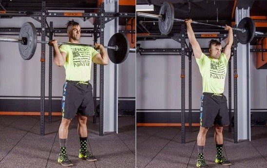 barbell overhead press