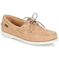 μπεζ boat shoes με κορδόνια
