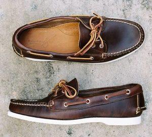 σκούρο καφέ δερμάτινα boat-shoes