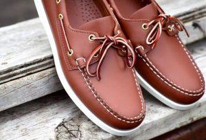 καφέ δερμάτινα boat-shoes
