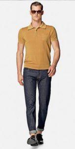 κίτρινο πόλο μπλουζάκι