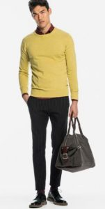 κίτρινο πουλόβερ αντρικό
