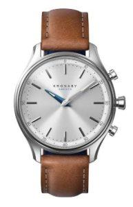 kronaby sweden αντρικό ρολόι με καφέ λουράκι