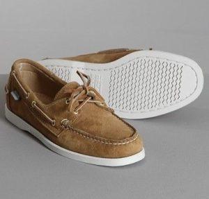 σουέντ μπεζ boat-shoes
