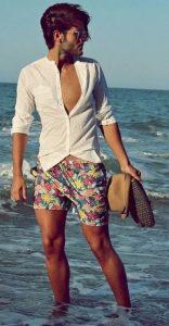 ντύσιμο άντρες παραλία πουκάμισο σορτς