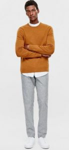 pullover αντρικό σε πορτοκαλί απόχρωση