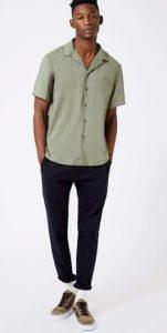 πράσινο αντρικό πουκάμισο κοντομάνικο
