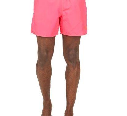 Emporio Armani κοντό ροζ ανδρικό μαγιό