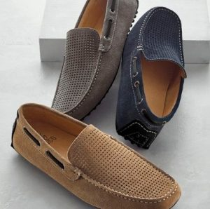 σουέντ loafers