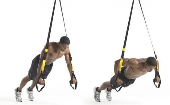 suspended push-ups αιωρούμενες κάμψεις