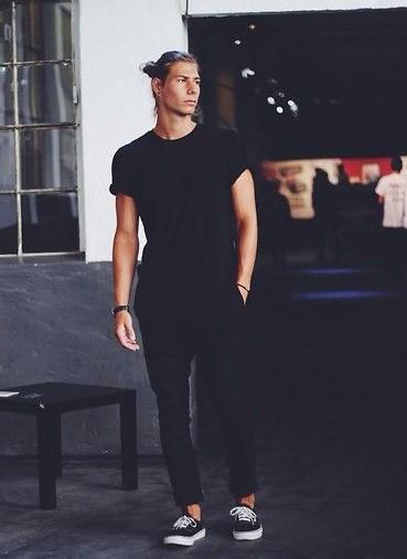 total black look casual