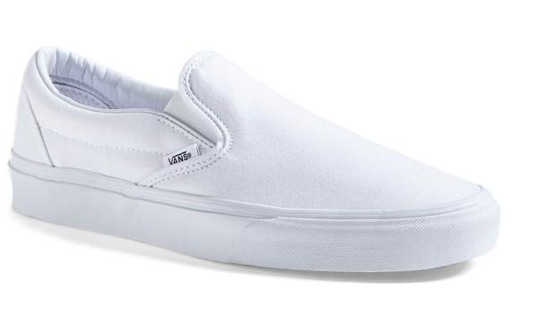 vans classic white slip-on