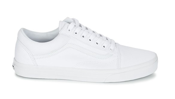 vans old skool white true white