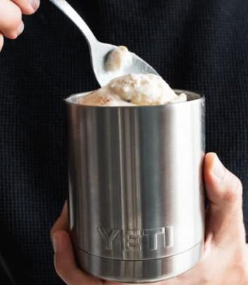 παγωτό σε θερμομονωτική κούπα