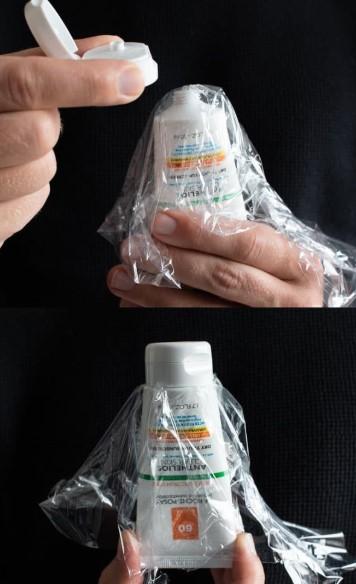 μεμβράνη για τέλειο σφράγισμα των προϊόντων περιποίησής σουί